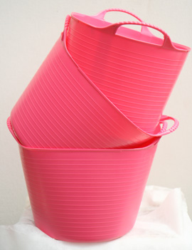 The+ORIGINAL+Tub+Trug+Buckets%2E+Flexible+14+Litre++ORIGINAL+Tub+Trug+Buckets+in+Baby+Pink