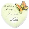 8cm POLYRESIN HEART - IN LOVING MEMORY OF A DEAR NAN