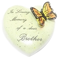 8cm POLYRESIN HEART - IN LOVING MEMORY OF A DEAR BROTHER