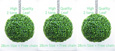 3X Hanging Artificial Boxwood Topiary Balls – 28cms (11 in'')  -  High quality two-tone leaf  COMPLETE with strong hanging chain with removable clips if you wish to use in pots or containers.