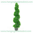 3 X Artificial Spiral Boxwood Topiary Corkscrew Trees / Plants each 80cm Tall
