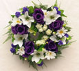 Silk Rose & Lily Open Wreath- Memorial-Funeral Tribute